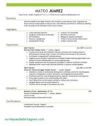 Substitute Teacher Resume Sample Free Resume Samples for Teachers Baskanai Luxury Of Sample 44