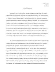 the americanization of shadrach cohen focuses on the cultural 5 pages essay 1 final draft
