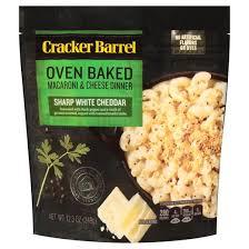 sharp white cheddar. cracker barrel oven baked mac \u0026 cheese white cheddar - 12.3oz sharp e