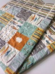 Organic KNIT Jersey Baby Blanket Set Woodland Party by CoolSpool ... & Baby Boy Quilt, Organic, Reversible, Feather River, Patchwork,  Camping,Rustic,Canoes, Bears, Crib Bedding, Crib Quilt, Baby Bedding,  Nursery Adamdwight.com