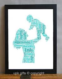 upk gifts personalised mother new baby child keepsake print gift word art with frame mummy dad
