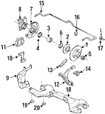 g20 front suspension diagram below is a diagram of the g20 front suspension below the diagram is a list of each part by