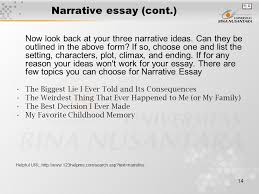 module composing essay part matakuliah g writing iv 14 narrative essay cont now look back at your three narrative ideas