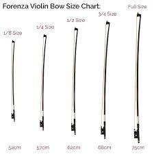 Forenza Violin Bow Available In 4 4 3 4 1 2 1 4 1 8 Size