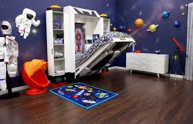 Outer Space Bedroom Spaceship Bed Childrens Bed For Astronaut Theme Room