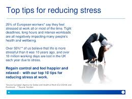 Top 10 Tips For Reducing Stress At Work