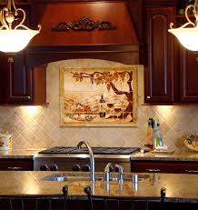 Mural Tiles For Kitchen Decor kitchen backsplash tile murals beautiful for home design ideas with 5