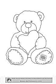Small Picture Teddy Bear Printable Coloring Pages Free Printable Teddy Bear