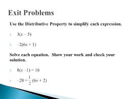 use the distributive property to simplify each expression