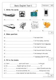 Free Worksheets » Basic English Worksheets - Free Math Worksheets ...