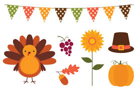 Thanksgiving Set 7 Png Images Graphic By Lattesmile Creative Fabrica