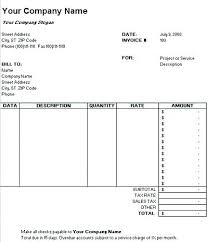 Monthly Invoice Template Excel Template Monthly Free Word Travel
