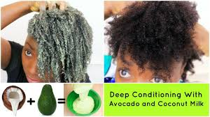 deep conditioning natural hair 4c avocado and coconut milk diy hair mask treatment wash day routine you