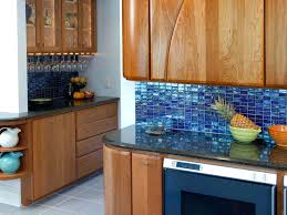 blue backsplash ...