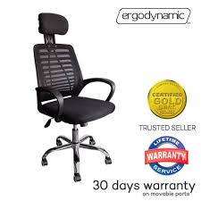 high back mesh office chair with leather effect headrest. ergodynamic ehc-p14 high back mesh office chair with headrest and tilting mechanism (black) | lazada ph leather effect