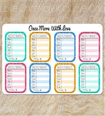 13 Weekly Budget Templates Free Sample Example Format