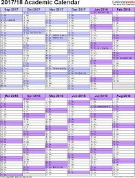 2018 Academic Calendar Template Vertical Two Months