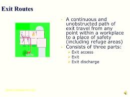 Fire Action Notice Sign Template Safety Plan Minimalist Exit Routes ...