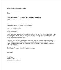 Letters To Debt Collectors Templates Debt Collector Cover Letter ...