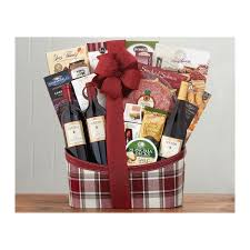napa valley wine basket