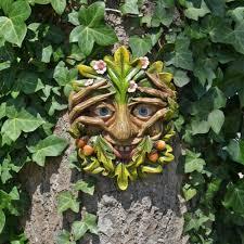 treant face wall plaque garden ornament