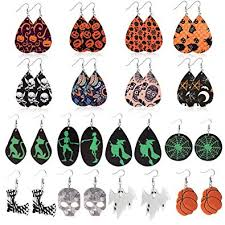 Buy <b>Halloween</b> Earrings for Women Teardrop Leather Earrings ...