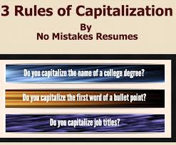 Resumes Titles 3 Rules For Capitalization On Resumes Giacomo Giammatteo