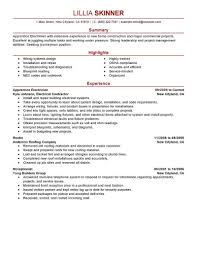Example Resume Summary Best Apprentice Electrician Resume Example LiveCareer 47