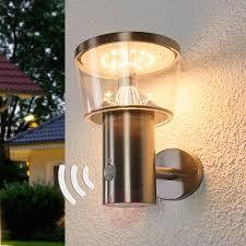 Solar Powered Led Outdoor Wall Lamp Antje Sensor Lightsie