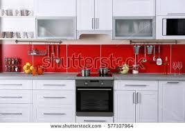 Modern Kitchen Interior 3d Rendering Stock Illustration  Image Modern Kitchen Interior