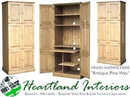 hidden home office furniture. Hideaway Office Furniture Interesting Home Computer Workstation Solid Pine 6 Door Triple Hidden