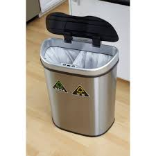 Kitchen Garbage Can Nine Stars 185 Gallon Motion Sensor Recycle Unit And Trash Can