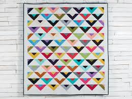 162 best Solid Fabric Quilts images on Pinterest   Quilt patterns ... & On Point Modern Brights Mixer Quilt Kit featuring Boundless Blenders Aura  Fabric   Craftsy Adamdwight.com