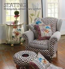 tropical painted furniture. mackenziechilds hand painted chairs and benches at tropical furniture