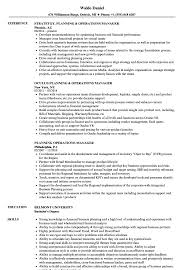 Operations Manager Resume Examples Planning Operations Manager Resume Samples Velvet Jobs 98