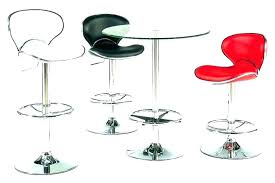 round glass bistro table set top pub and chairs wrought iron cool circular bar height kitchen delectable p