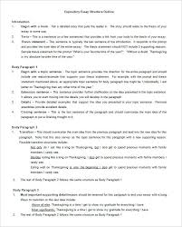 Example Outline Essay Free Expository Essay Outline Template Word