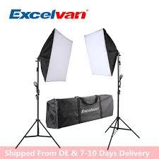 new excelvan 700w photography continuous softbox light lighting kit photo equipment soft studio light softbox portable