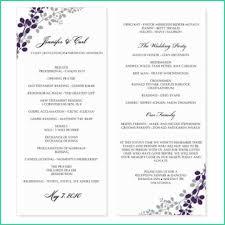 58 Free Downloadable Wedding Program Templates Microsoft Word All