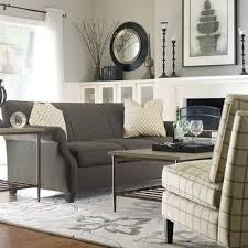 graphite Gray couch with taupe-y gray walls