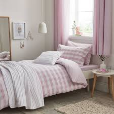 new girls bedding set in pink gingham check from designers cottonsoft made