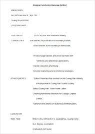 Free Functional Resume Templates - Gfyork.com