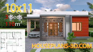 Home Design With Roof Terrace House Design 10x11 With 3 Bedrooms Terrace Roof