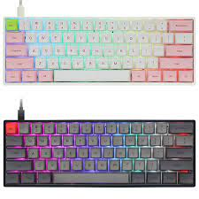 Gk61x gk61 60% Bàn phím cơ RGB Switch Led nóng hoán đổi ổ cắm loại C PCB Ốp  lưng chia phím cách chương trình phần mềm Keyboards