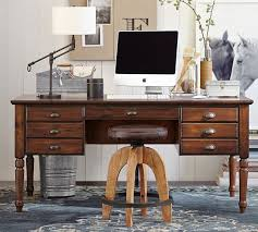 office furniture pottery barn. home office vintage inspired desks add texture personality and charm to modern workspaces furniture pottery barn