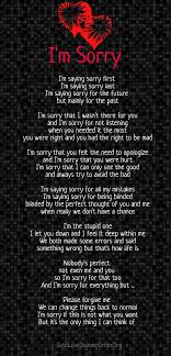 Im Sorry Love Poems Awesome I M Sorry Love