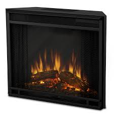 real flame 23 65 in black electric fireplace insert