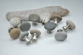Ready to Ship - Beach & River Rock Cabinet Knobs - Set of ...