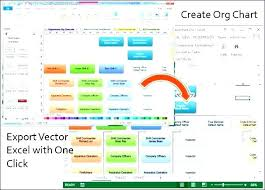 Organizational Chart Excel Template Sample In Hierarchy
