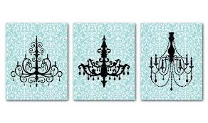 modern chandelier silhouette wall art trio by susannewberrydesigns on wall art chandelier